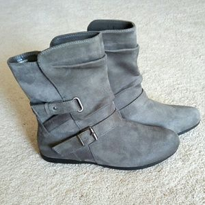 Grey Sueded Ankle Boots Sz 8